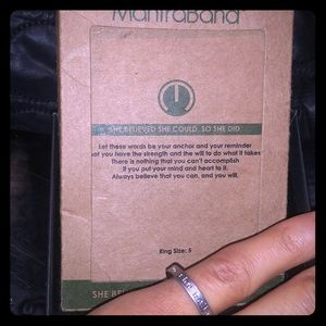 MantraBand She Believed...So She Did Ring